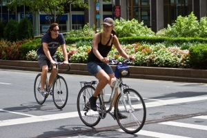 Bicyclists at Summer Streets